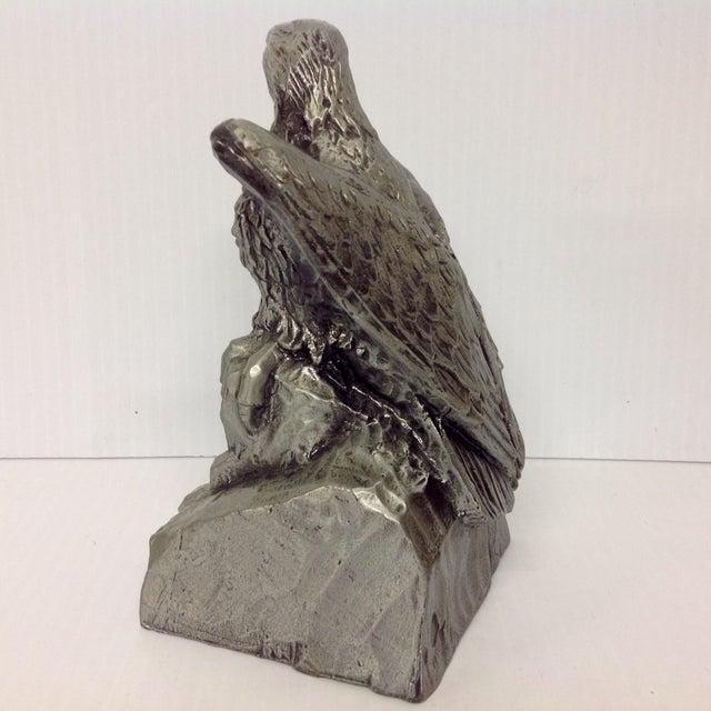 Stately Modernist Eagle Sculpture, Signed DG For Sale In Dallas - Image 6 of 7
