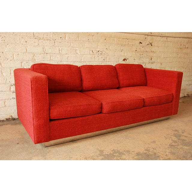 Milo Baughman Style Floating Sofa - Image 4 of 8