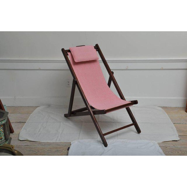 Folding and Adjustable Sling-Back Lounge Chair, 1940s British Campaign For Sale - Image 4 of 10