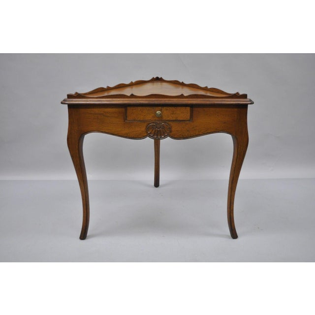 Country French Louis Triangle Side Table For Sale - Image 9 of 10