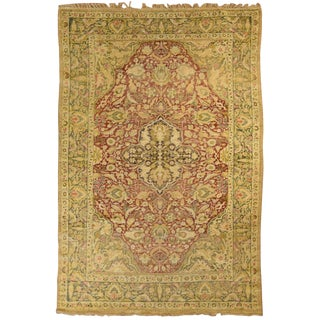 Antique Anatolian Silk Rug For Sale