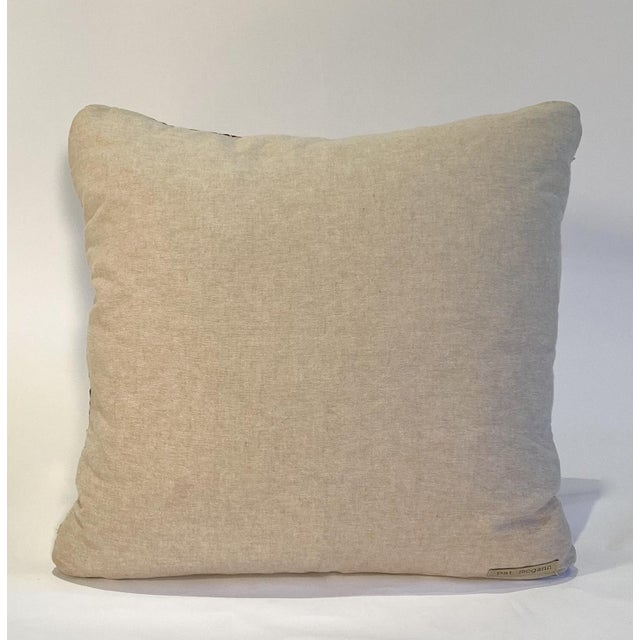 Traditional Vintage Textile Decorative Pillow by Pat McGann For Sale - Image 3 of 6