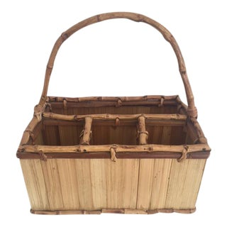 Bamboo & Rattan Storage Caddy