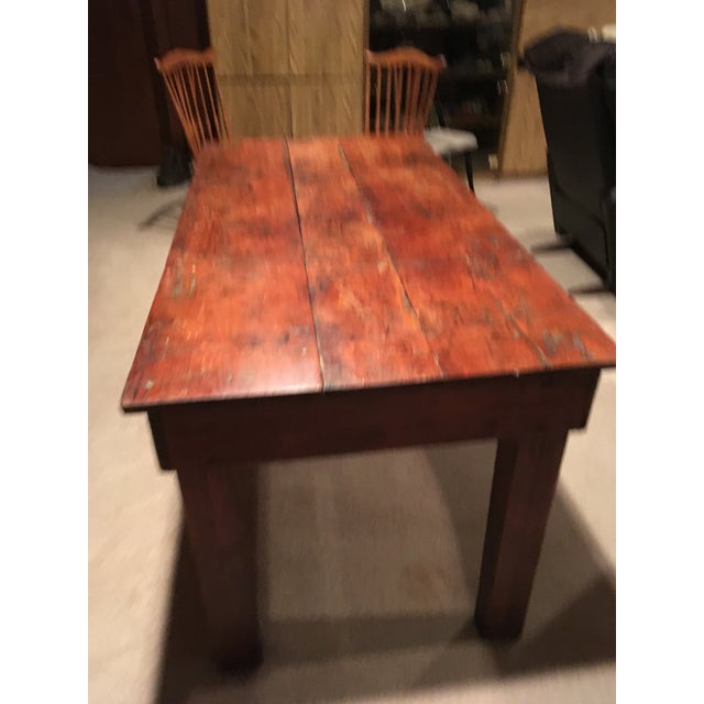 Handmade rustic reclaimed barnwood kitchen or dining room table. This could also be used as a desk or a kitchen island....