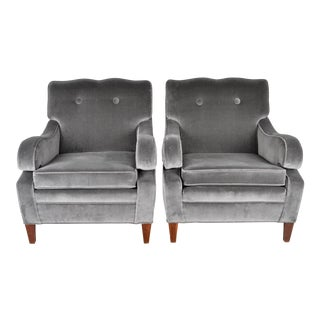 Pair of Lounge Chairs Style of Dorothy Draper, Usa, Circa 1940s For Sale