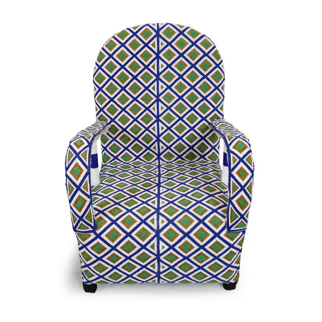 West African hand beaded tribal arm chair from Yoruba Nigeria. Thousands of tiny beads cover these artistic beautiful and...