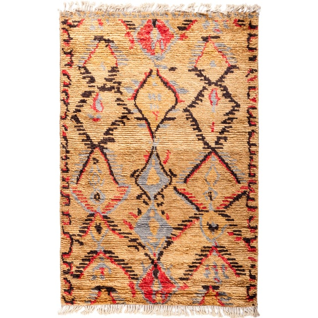 "Tullu Hand Knotted Area Rug - 4' 2"" x 6' 2"" - Image 4 of 4"