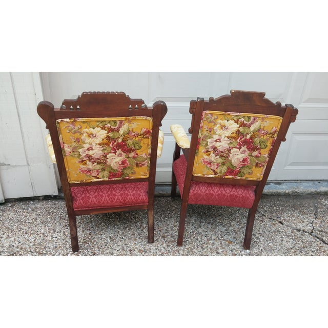 Vintage Eastlake Armchairs - A Pair - Image 3 of 11