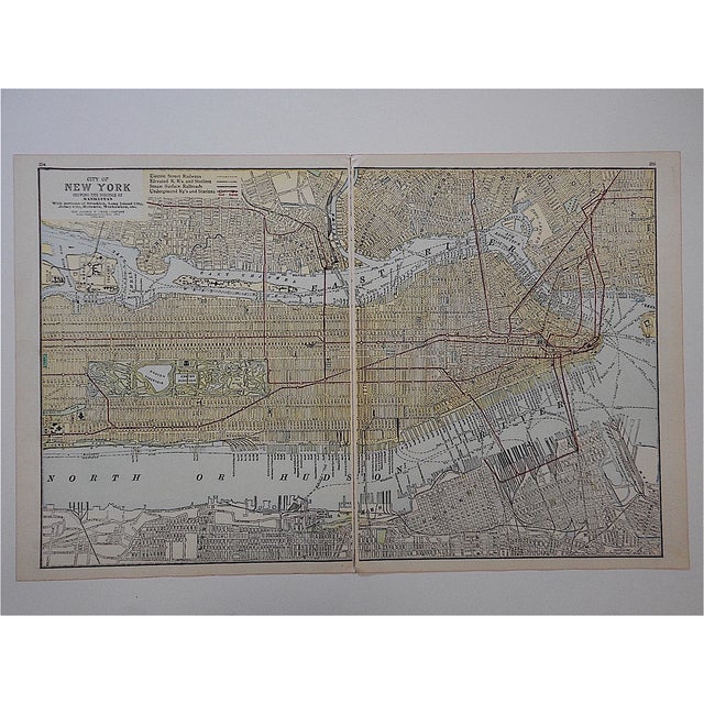 This late 19th century lithograph (offset) is one of a series depicting U.S. cities. A map/partial map is on the reverse....