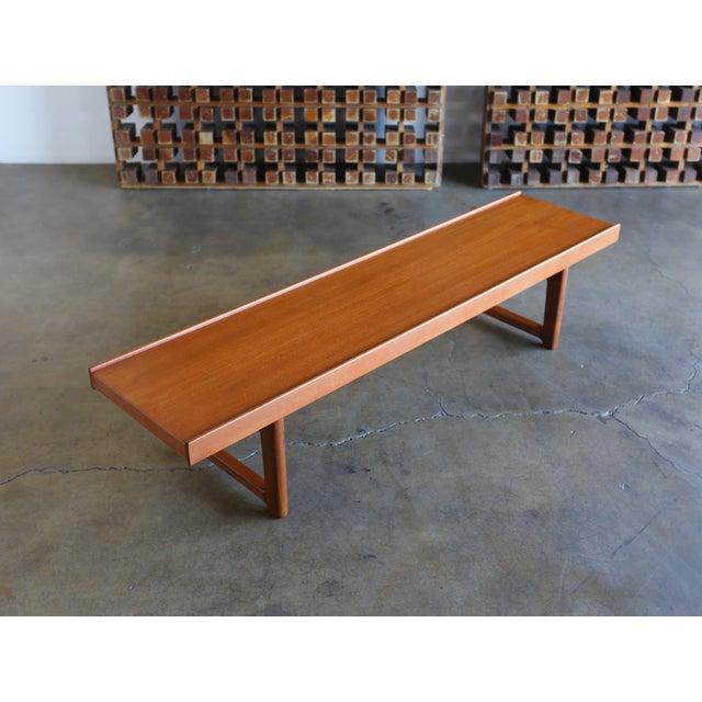 """Mid Century Torbjørn Afdal for Bruksbo Teak """"Krobo'' Bench For Sale - Image 11 of 11"""