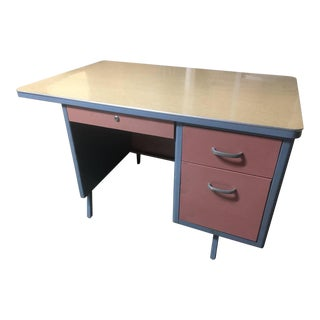 1960s Mid Century Modern Tanker Desk For Sale