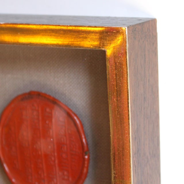 Traditional Framed Red Intaglio Wax Seals Collages - a Pair For Sale - Image 3 of 13
