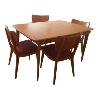 Heywood Wakefield Maple Dining Table and Chairs Set For Sale