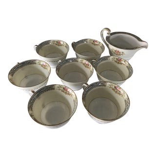Noritake Teacups & Creamer - Set of 8