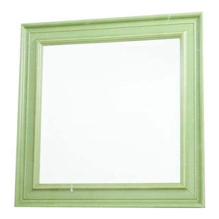 Shabby Chic Green Framed Wall Mirror For Sale