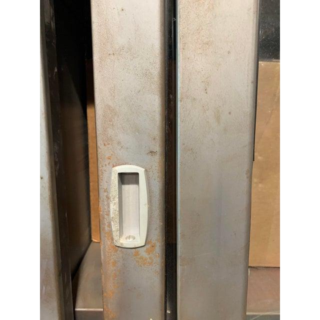 Vintage Industrial Metal Display Cabinet For Sale In San Francisco - Image 6 of 12