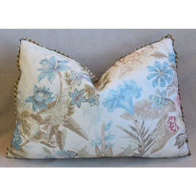 "Early 21st Century Cowtan & Tout Floral Linen Feather/Down Pillows 26"" X 18"" - Pair For Sale - Image 5 of 13"