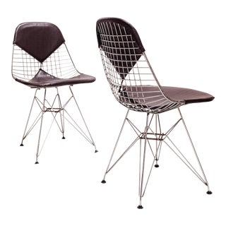 Early Pair Dkr-2 Chairs by Ray & Charles Eames for Herman Miller 1951