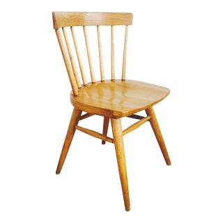 Mid Century Paul McCobb Style Spindle Back Dining or Desk Chair For Sale
