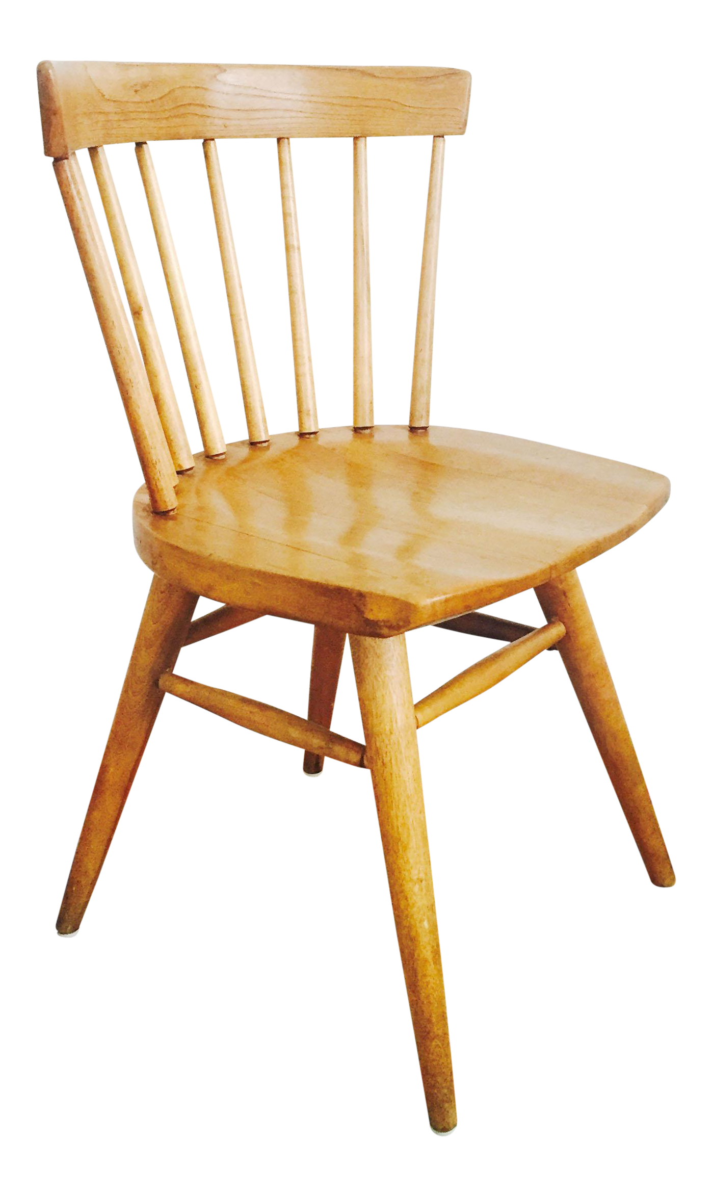 Mid Century Paul McCobb Style Spindle Back Dining Or Desk Chair   Image 1  Of 8