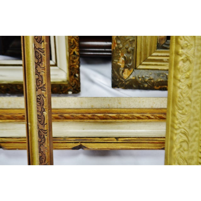Vintage Medium Sized Wood Picture Frames - Group of 6 For Sale - Image 10 of 13