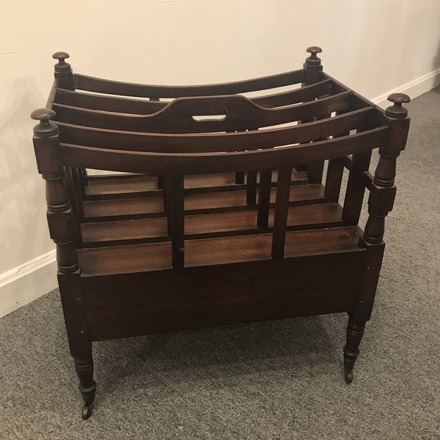 American 19th Century Americana Mahogany Magazine Rack For Sale - Image 3 of 5