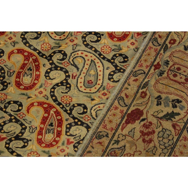 Shabby Chic Guhm Pak-Persian Pearline Lt. Green/Tan Wool Rug - 4'8 X 7'1 For Sale - Image 4 of 8