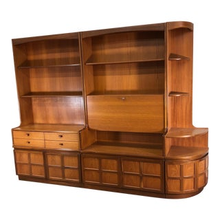 Mid Century 3 Piece Teak Wall Unit by Nathan Furniture For Sale