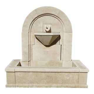 Modern Gadroon Wall Fountain For Sale