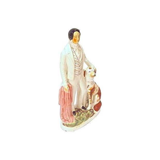 Antique; 19th century, English, Staffordshire, Prince of Wales, ceramic figurine. Depicting The Prince of Wales (King...