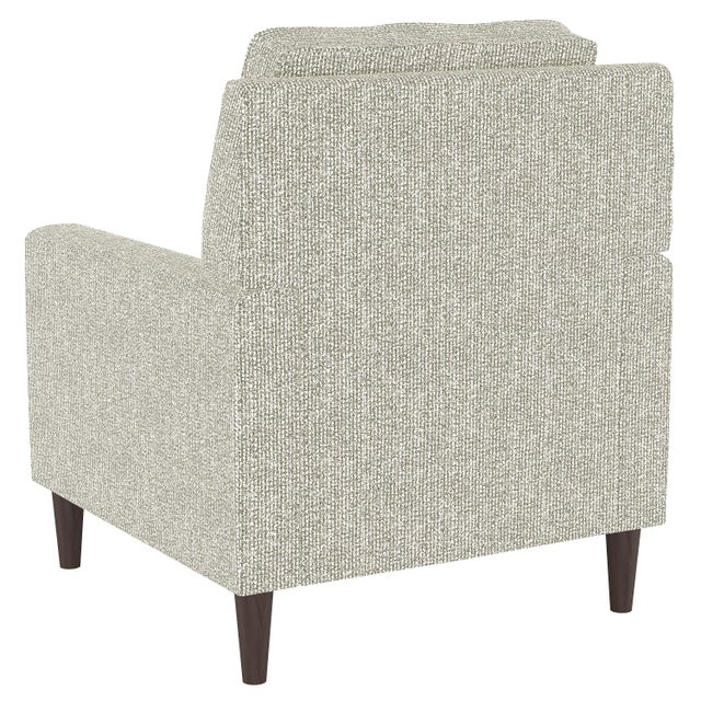 Contemporary Armchair in Solitude Natural For Sale - Image 3 of 7