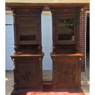 Antique Carved China Cabinets- a Pair Preview