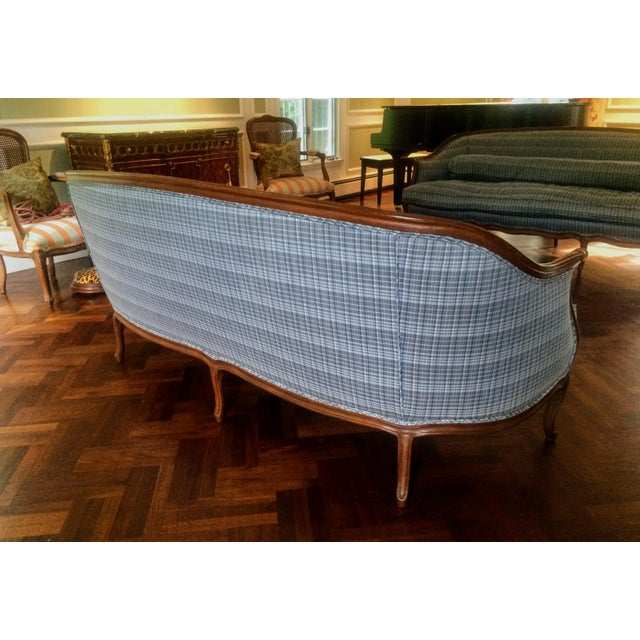 Vintage French Louis XV Style Wood Frame Sofa by Meyer Gunther Martini - Image 8 of 11