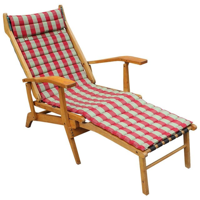 Red Italian Chaise Lounge For Sale - Image 8 of 8