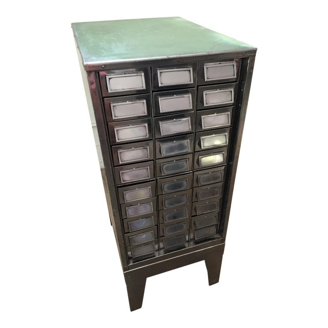 Vintage Mid-Century Metal Library Cabinet For Sale