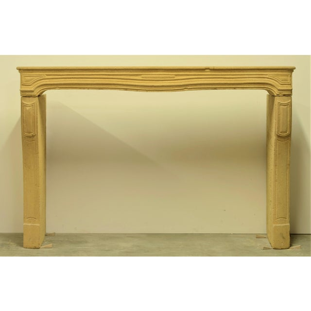 Antique Limestone Fireplace From France, 19th Century For Sale - Image 12 of 12