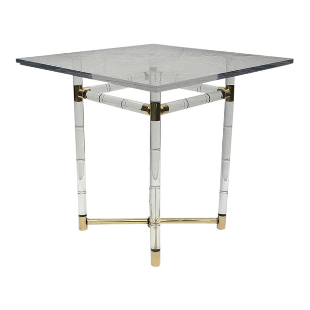 Polished Brass and Faux Bamboo Center Table by Charles Hollis Jones - Image 1 of 10