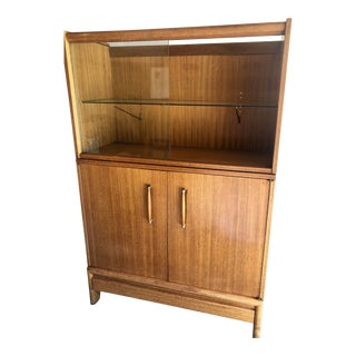 1960s Mid-Century Modern John Keal for Brown Saltman Bar Display Cabinet For Sale