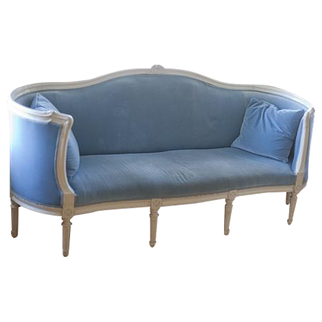 Light Blue French Neoclassical Sofa