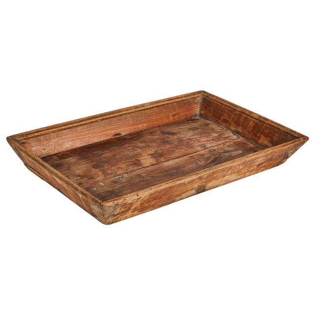 Late 19th Century Late 19th Century Chinese Primitive Wooden Tray For Sale - Image 5 of 5
