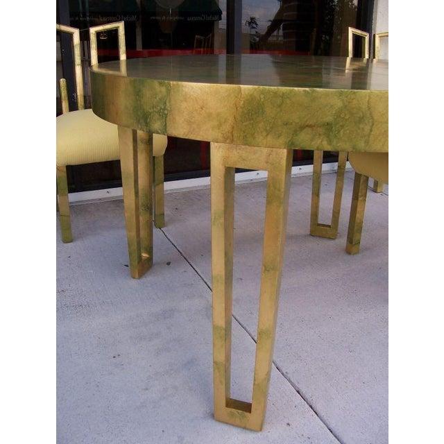 A James Mont Camouflage Gold Leaf Dining Room Set - Image 5 of 10