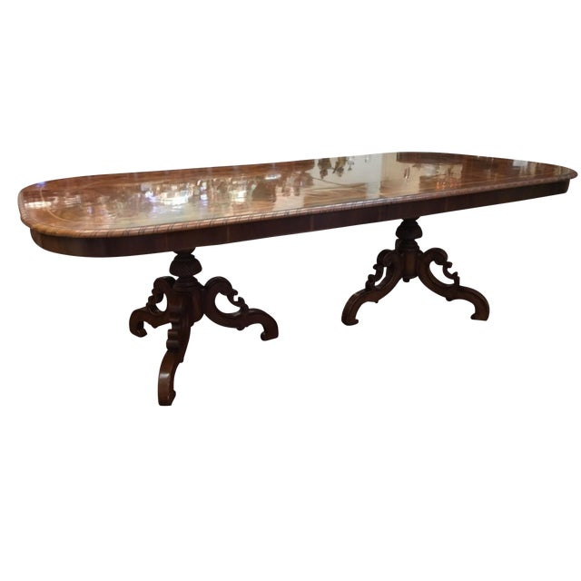 Alfonso Marina Spanish Wood Dining Table For Sale