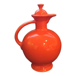 Vintage Fiesta Red Carafe With Lid
