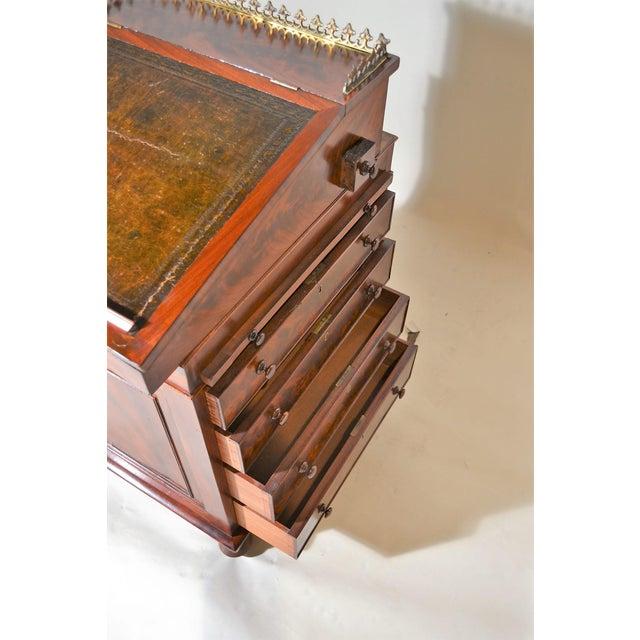 English Traditional Antique English Mahogany Davenport For Sale - Image 3 of 7