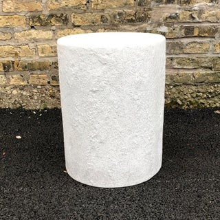 Cast Resin 'Dock' Stool and Side Table, White Stone Finish by Zachary A. Design Preview