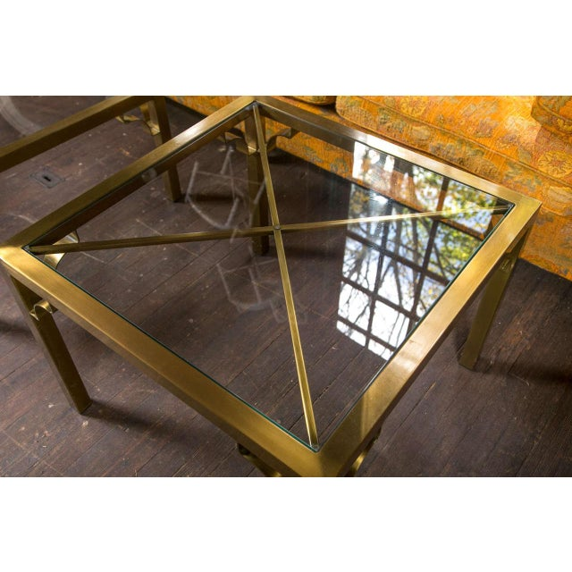 Metal 1960s Vintage Mastercraft Brass End Table For Sale - Image 7 of 19