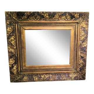 Art Nouveau Style Gold Leaf Mirror For Sale