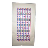 """Image of 1980s Agam Yaacov """"The Blessing"""" Signed & Numbered Serigraph Print For Sale"""
