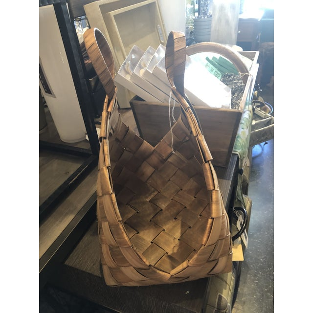 2020s Woven Baskets from Kenneth Ludwig Home - a Pair For Sale - Image 5 of 8