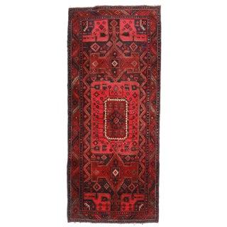 """RugsinDallas Vintage Wool Persian Hamedan Runner - 4' X 9'5"""" For Sale"""